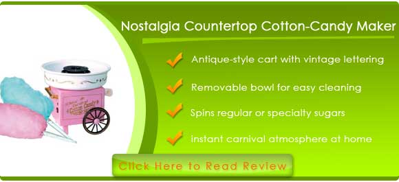 Nostalgia CCM505 Vintage Countertop Cotton-Candy Maker