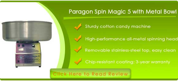 Paragon Spin Magic 5 Cotton Candy Machine with Metal Bowl